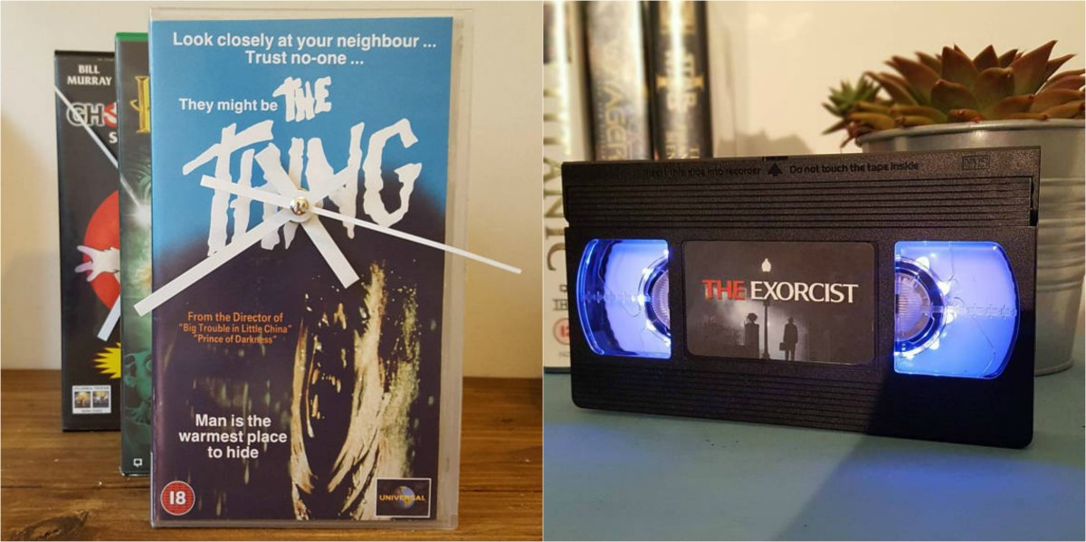Horror VHS Lamps and Clocks Are a Retro Decor Dream