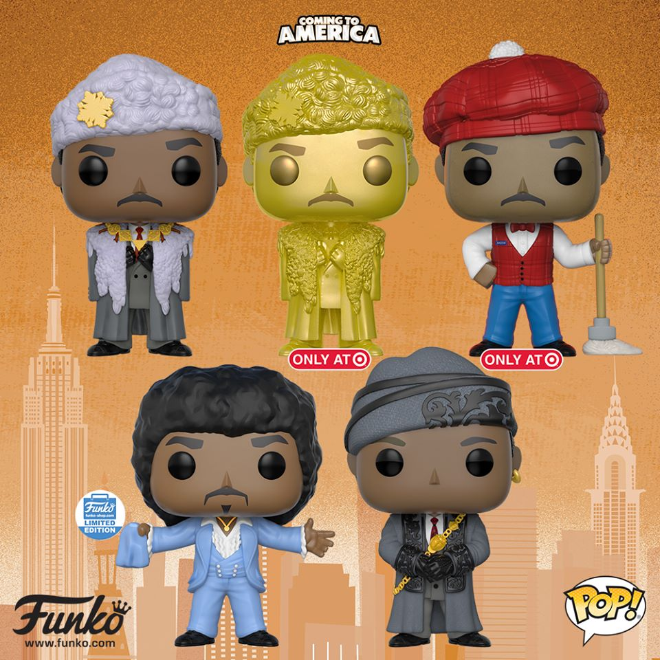 Call The Rose Bearers Coming To America Funko Pops On The