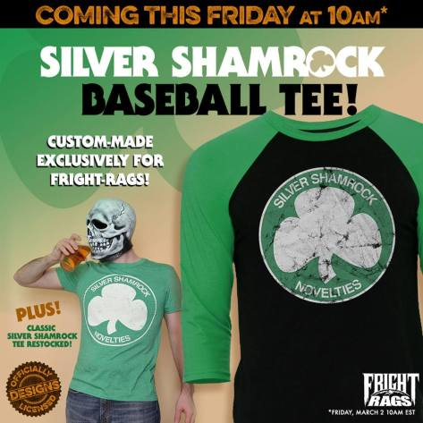 Silver Shamrock Invades Fright-Rags This Friday!