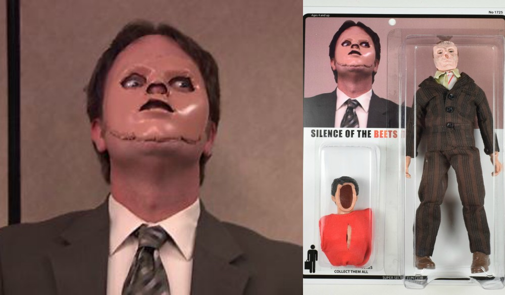 Silence Of The Beets Dummy Skin Wearing Dwight Schrute Is Now An Action Figure Nightmare Nostalgia