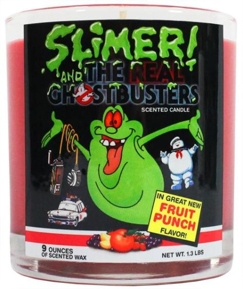 Smell the Nostalgic Scent of Retro Slimer Fruit Snacks in Candle Form!