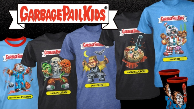 New Horror Infused Garbage Pail Kids Merch Hits FRIGHT RAGS