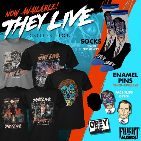 "New Horror Infused Garbage Pail Kids and ""They Live"" Merch Hits FRIGHT RAGS"