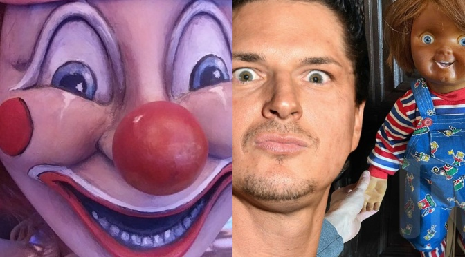 ZAK BAGANS ADDS ORIGINAL CHUCKY AND POLTERGEIST CLOWN DOLL TO HAUNTED MUSEUM