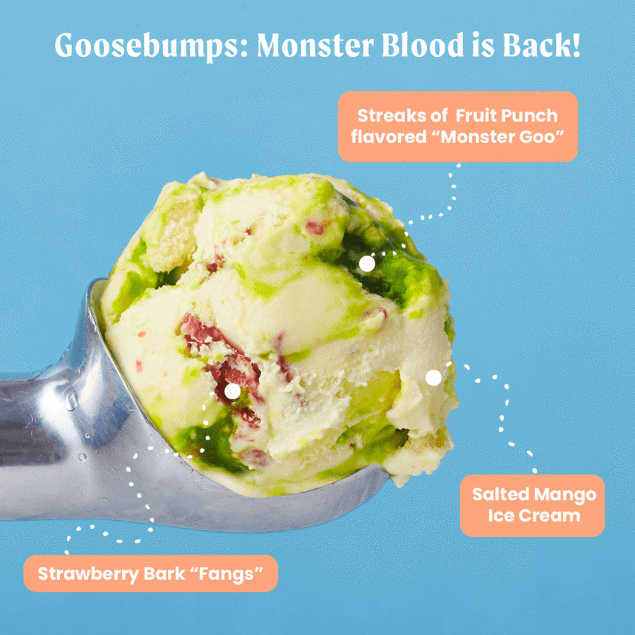 YOU CAN NOW BUY GOOSEBUMPS MONSTER BLOOD ICE CREAM!