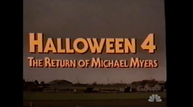 """{Watch} NBC Broadcast Fan Edit Of """"Halloween 4"""" With Commercials!"""